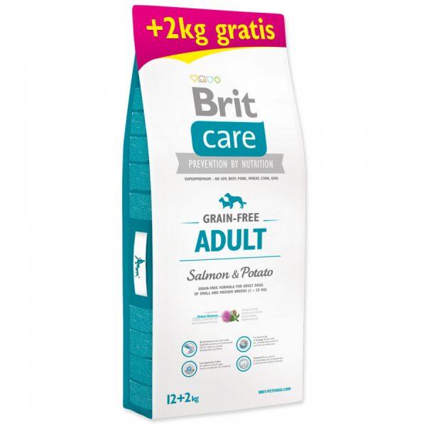 granule Brit Care Grain-free Adult Salmon & Potato 12+2 kg